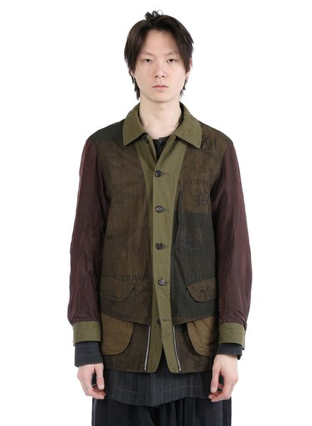 ZIGGY CHEN ZIGGY CHEN MEN REVERSIBLE ZIPPED DETAIL OVER JACKET