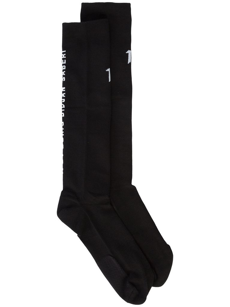 11 BY BORIS BIDJAN SABERI 11 BY BORIS BIDJAN SABERI MEN LOGO & TYPE SOCKS 3 PACKS