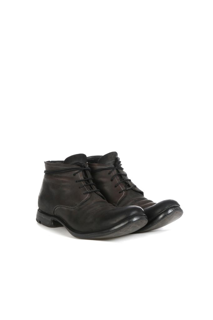 LAYER-0 LAYER-0 MEN REVERSED HORSE CORDVAN LEATHER ANKLE BOOT