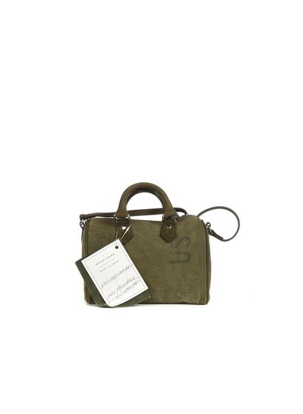 READYMADE READYMADE VINTAGE ARMY TENT NANO OVER NIGHT BAG