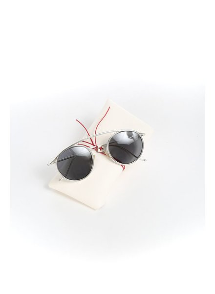 MA+ MA+ ONE PIECE SILVER RIM SUNGLASSES