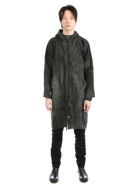 A DICIANNOVEVENTITRE A1923 LINEN CANVAS HOODED PARKA