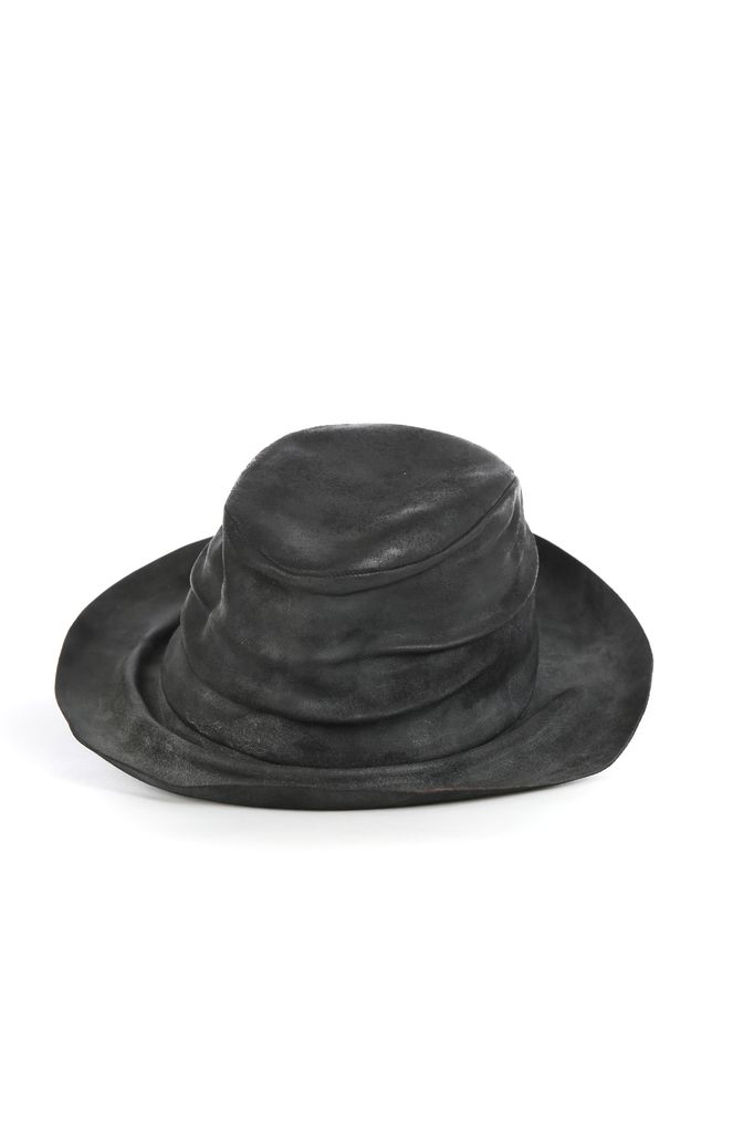 LAYER-0 LAYER-0 WIDE RIM HORSE LEATHER HAT