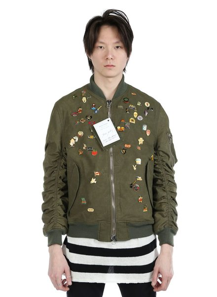 READYMADE READYMADE JESSE JACKET WITH VINTAGE PINS
