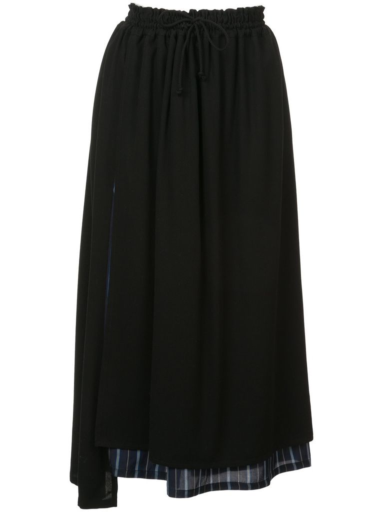 Y'S Y'S WOMEN LAYERED SKIRT