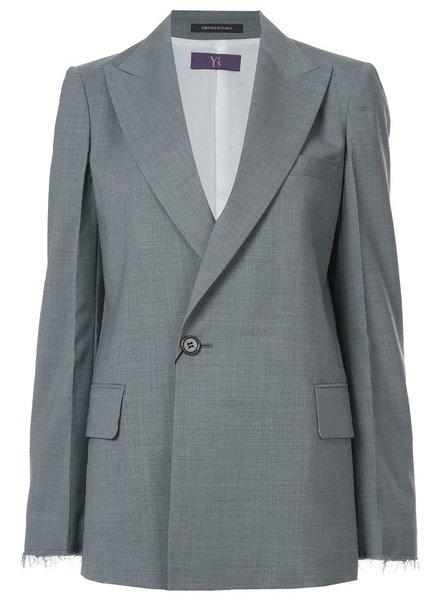 Y'S Y'S WOMEN RAW EDGE TAILORED JACKET
