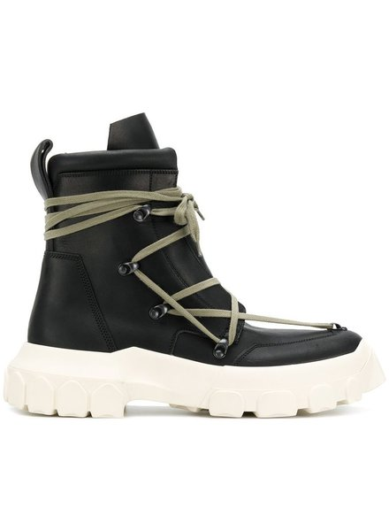 RICK OWENS RICK OWENS MEN LACE UP BIKING BOOT