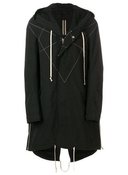 RICK OWENS DRKSHDW DRKSHDW MEN FISHTAIL PARKA WITH STAR STITCHING