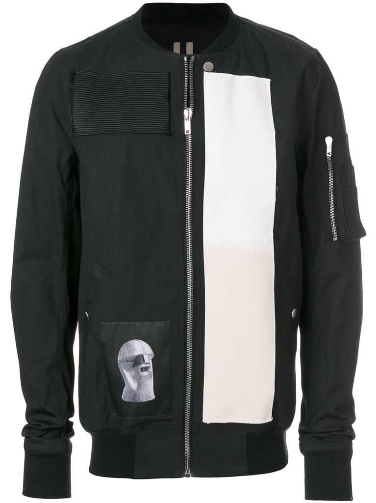RICK OWENS DRKSHDW DRKSHDW MEN FLIGHT JACKET WITH PATCHES