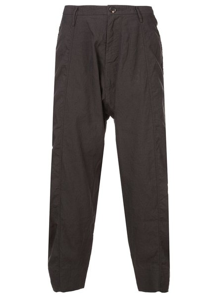 ZIGGY CHEN ZIGGY CHEN MEN DROP CROTCH WIDE LEG CROP TROUSER