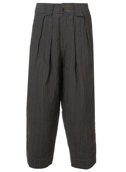 ZIGGY CHEN ZIGGY CHEN MEN STRIPE WIDE LEG STRIPE CROP TROUSER