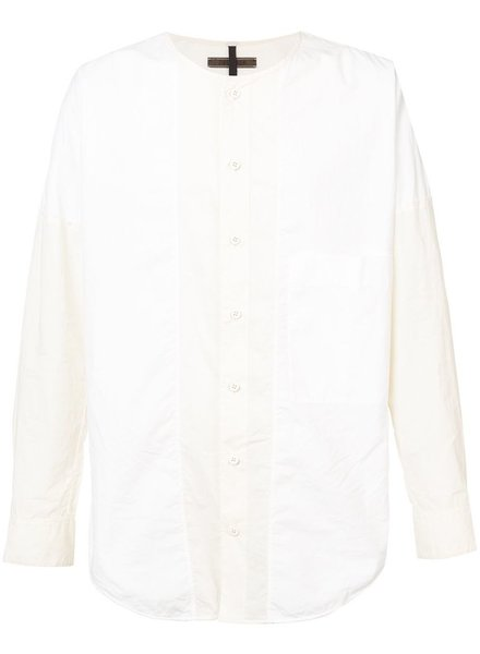 ZIGGY CHEN ZIGGY CHEN MEN ROUND NECK BUTTON DOWN SHIRT