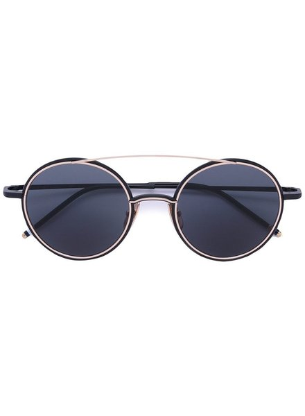 THOM BROWNE THOM BROWNE DITA EYEWEAR TB-108 TINT BLACK IRON - 12K GOLD WITH DARK GREY - AR