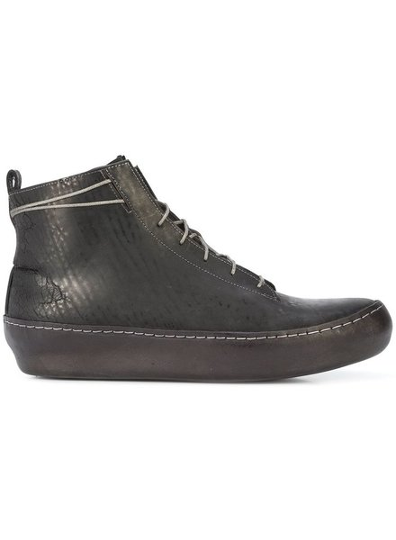 TAICHIMURAKAMI TAICHIMURAKAMI MEN CORDOVAN SPLIT ONE PIECE SOLE HIGH TOP SNEAKER