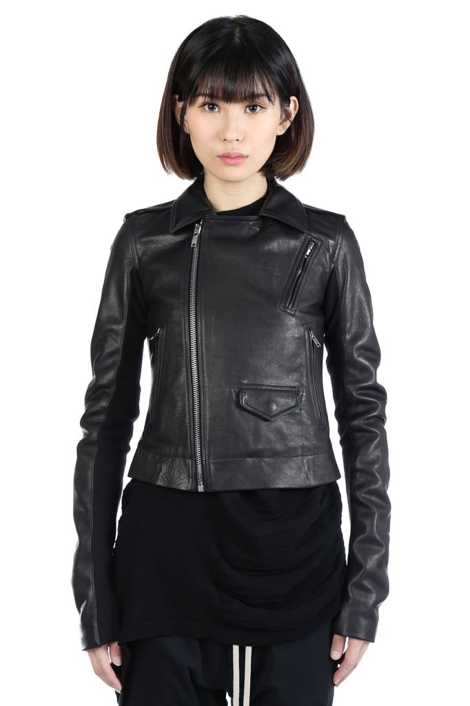 RICK OWENS RICK OWENS WOMEN CLASSIC STOOGES LEATHER JACKET