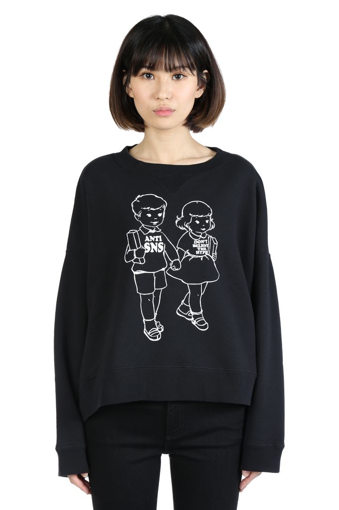 UNDERCOVER UNDERCOVER WOMEN ANTI SNS PRINTED SWEATSHIRT