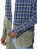GREG LAUREN GREG LAUREN MEN 50/50 BLUE MOON FLANNEL/ARMY JUNGLE STUDIO SHIRT
