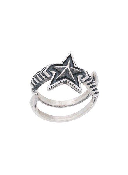 CODY SANDERSON CODY SANDERSON DOUBLE ARROW LARGE STAR RING