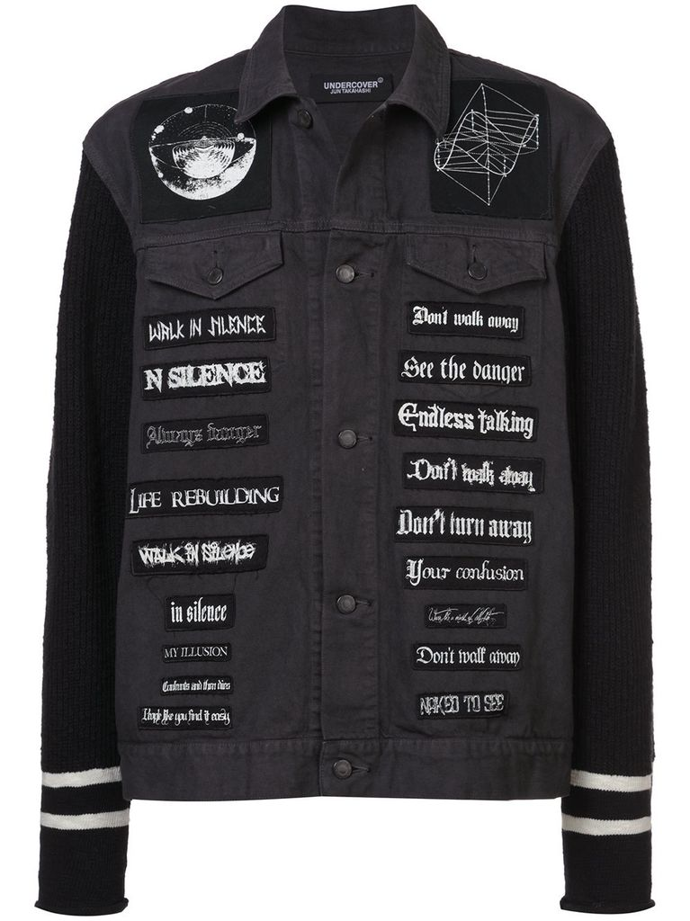 UNDERCOVER UNDERCOVER MEN BAND PATCHES DENIM JACKET