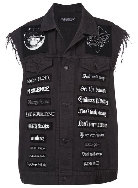 UNDERCOVER UNDERCOVER MEN BAND PATCHES DENIM VEST
