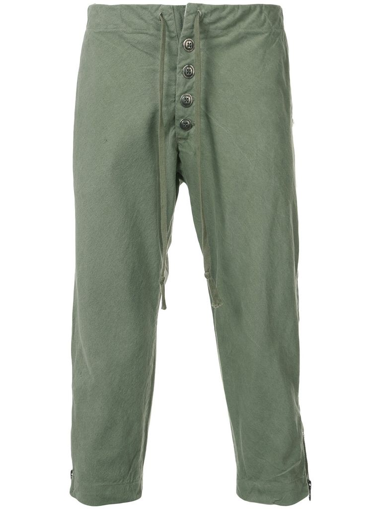 GREG LAUREN GREG LAUREN MEN ARMY TENT SLIM LOUNGE PANT