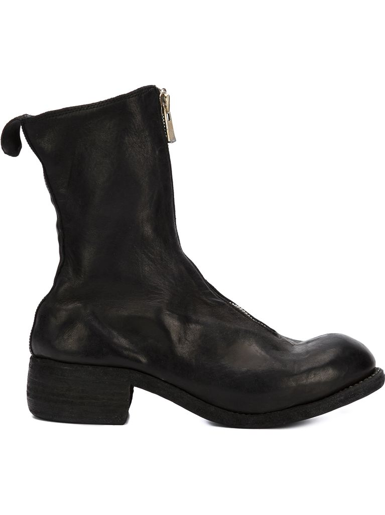 GUIDI GUIDI PL2 WOMEN SOFT HORSE LEATHER FRONT ZIP BOOT