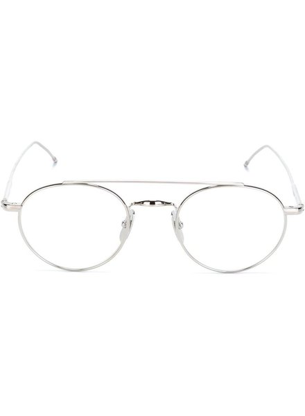 THOM BROWNE THOM BROWNE DITA EYEWEAR TB-101 SHINY SILVER WITH CLEAR - AR