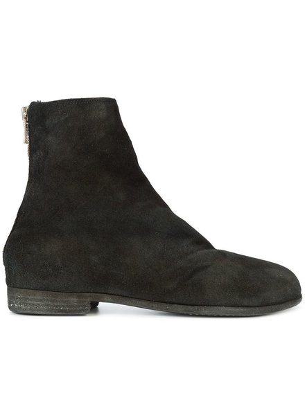 GUIDI GUIDI WOMEN CALF REVERSE BLAKE BACK ZIP ANKLE BOOTS