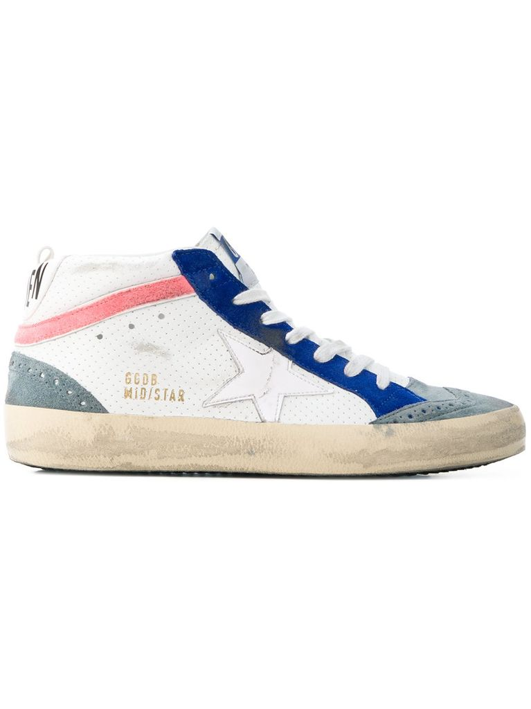 GOLDEN GOOSE GOLDEN GOOSE WOMEN MID STAR TENNIS SNEAKERS