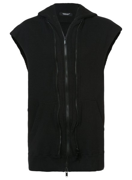 UNDERCOVER UNDERCOVER MEN THE SLEEVELESS VESH-CHES HOODIE