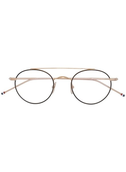 THOM BROWNE THOM BROWNE DITA EYEWEAR TB-101 BLACK IRON - 12K GOLD WITH CLEAR AR