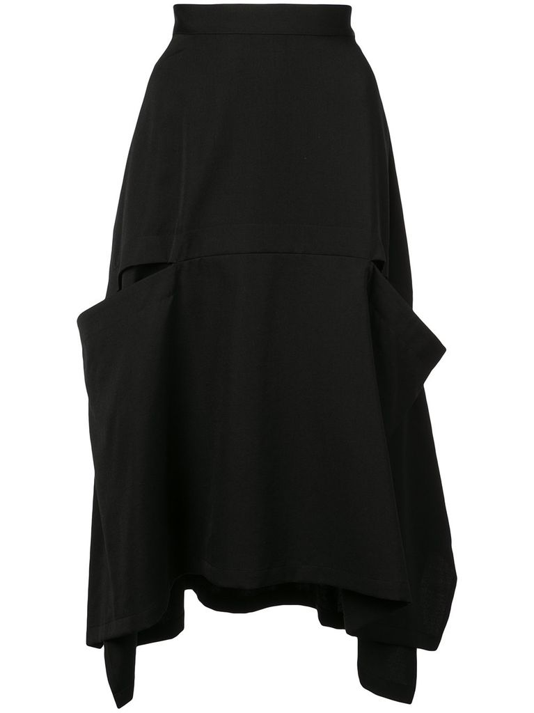 Y'S Y'S WOMEN FRONT PANEL A LINE SKIRT