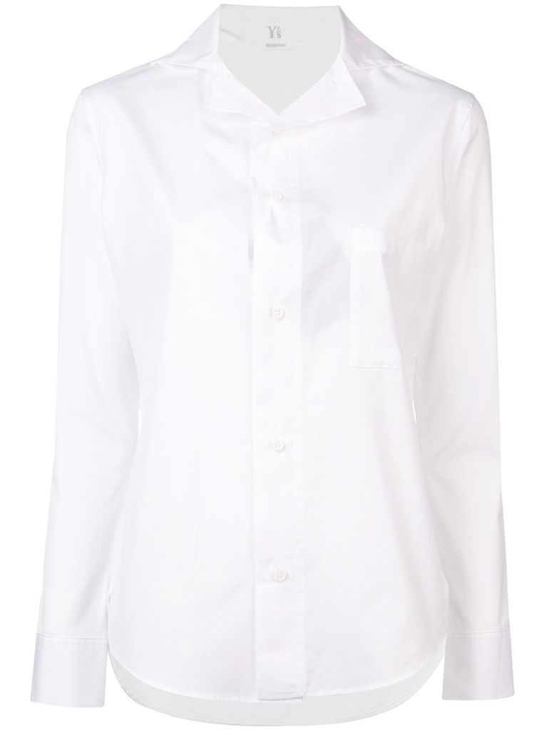 Y~S Y~S WOMEN LAYERED COLLAR SHIRT