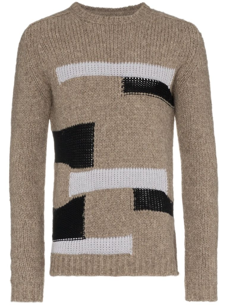 RICK OWENS RICK OWENS MEN PATCHWORK BIKER SWEATER