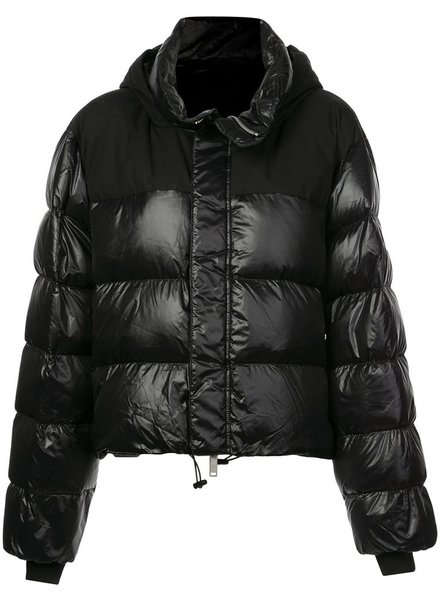 UNRAVEL PROJECT UNRAVEL WOMEN SHINY DOWN CHOOPED HOODIE JACKET