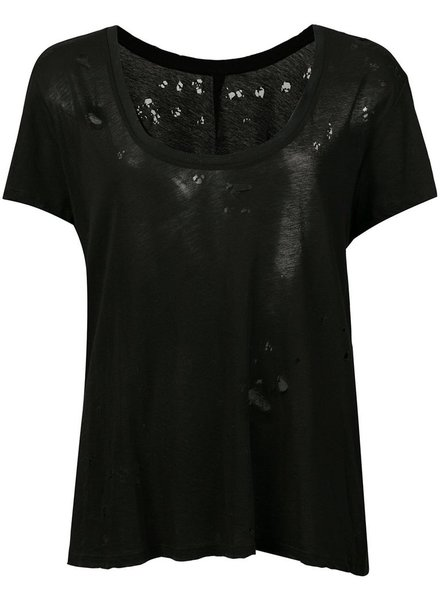 UNRAVEL PROJECT UNRAVEL WOMEN DISTRESS JERSEY BASIC TEE