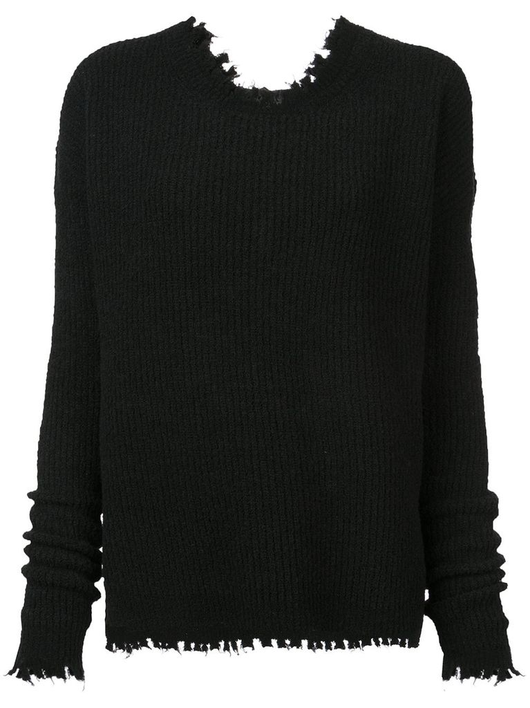 UMA WANG UMA WANG WOMEN LONG SLEEVE OVER KNIT TOP