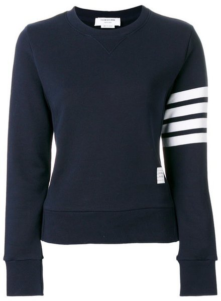 THOM BROWNE THOM BROWNE WOMENS CLASSIC SWEATSHIRT IN CLASSIC LOOP WITH ENGINEERED 4 BAR