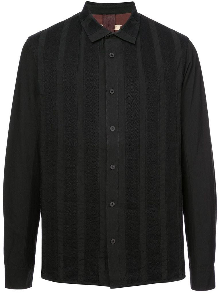 ZIGGY CHEN ZIGGY CHEN MEN STRIPE APPLIQUE SHIRT