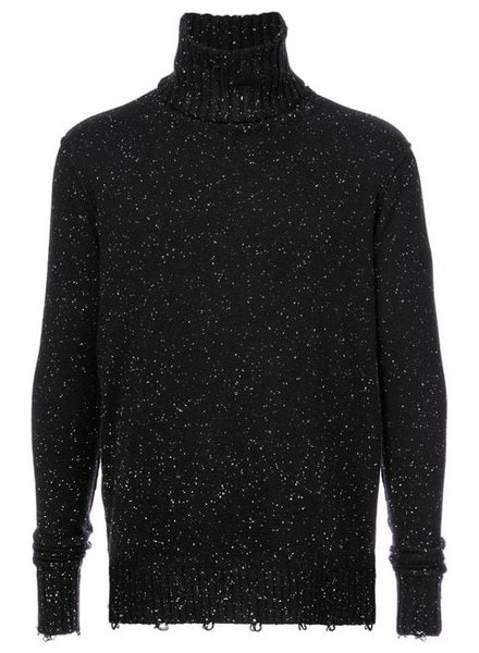 ZIGGY CHEN ZIGGY CHEN MEN REMOVABLE COLLAR SWEATER