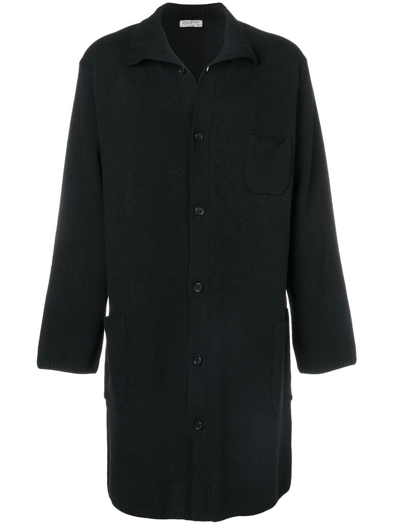 YOHJI YAMAMOTO POUR HOMME YOHJI YAMAMOTO POUR HOMME OLD MAN HIGH-NECKED CARDIGAN
