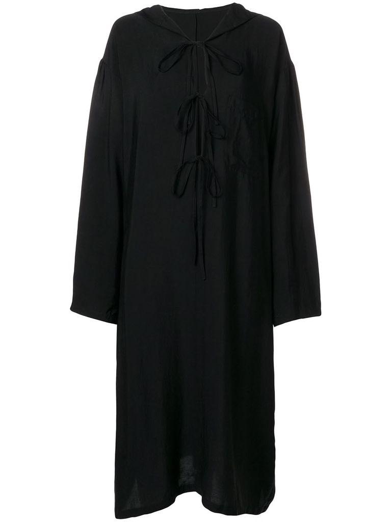 Y'S Y'S WOMEN HOODED DRESS