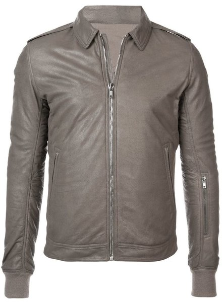 RICK OWENS RICK OWENS MEN ROTTERDAM LEATHER JACKET