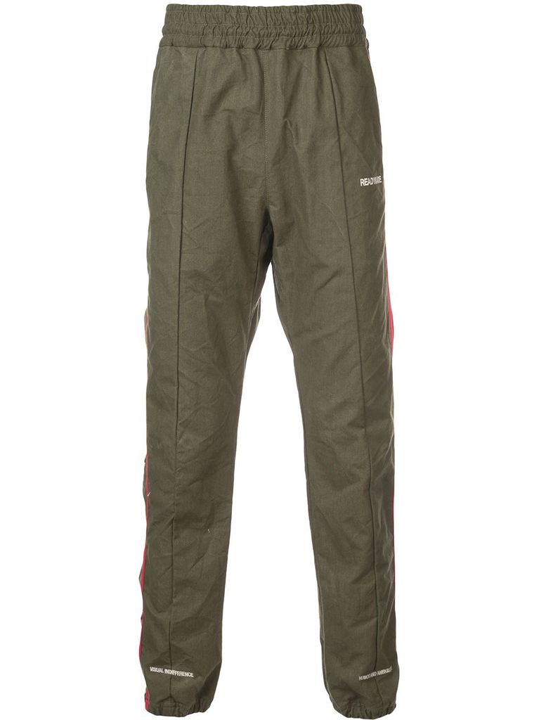READYMADE READYMADE MEN SIDE BUTTON TRACK PANT