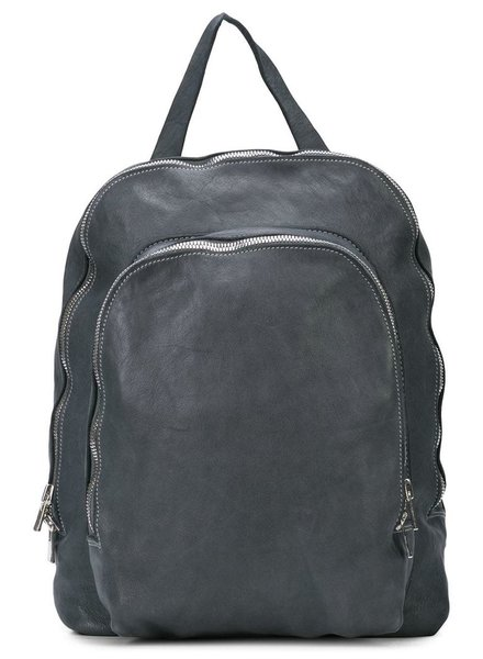 GUIDI GUIDI SOFT HORSE LEAHTER SMALL 2 ZIP BACKPACK