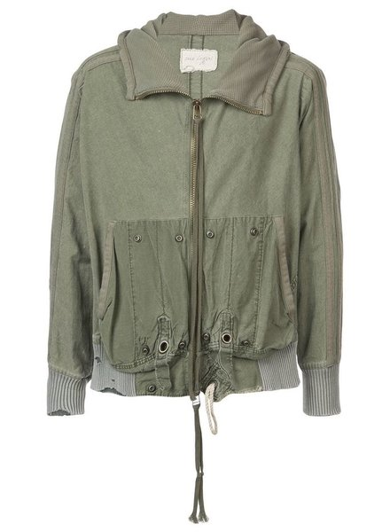GREG LAUREN GREG LAUREN MEN ARMY TENT HIGH TECH HOODED TRACK JACKET