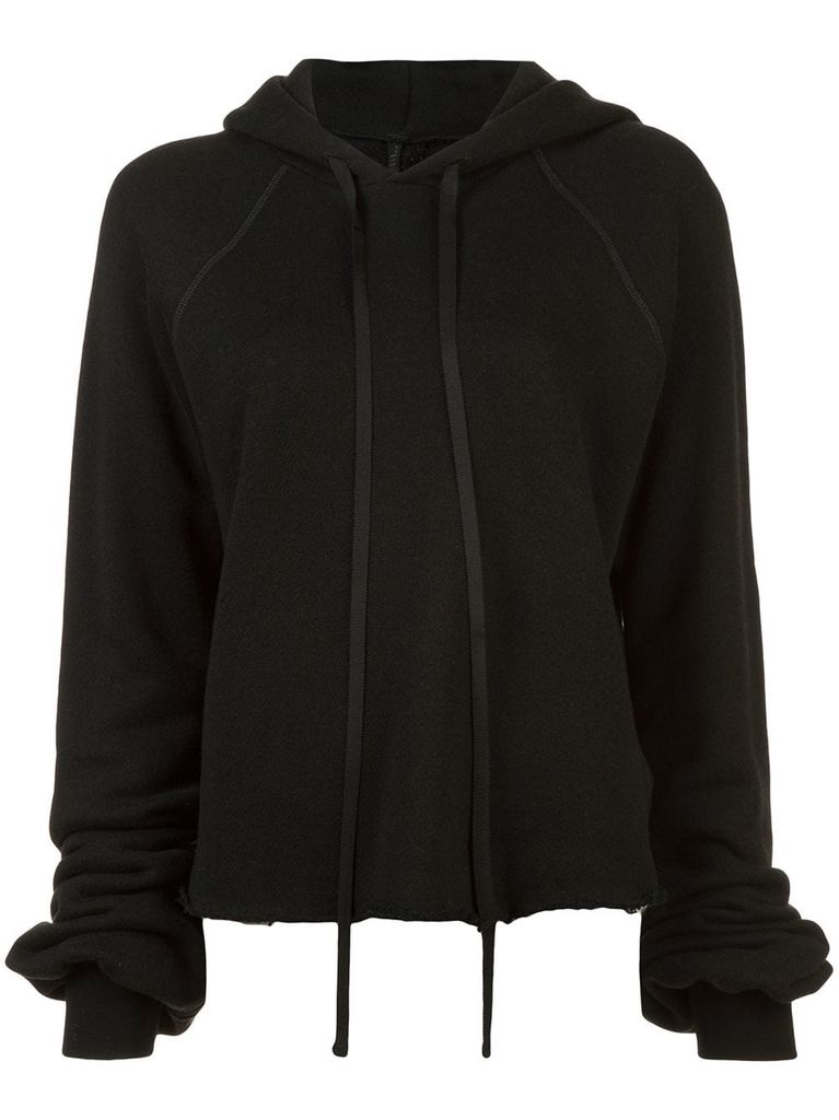 UNRAVEL PROJECT UNRAVEL WOMEN COTTON CASHMERE CROPPED HOODIE