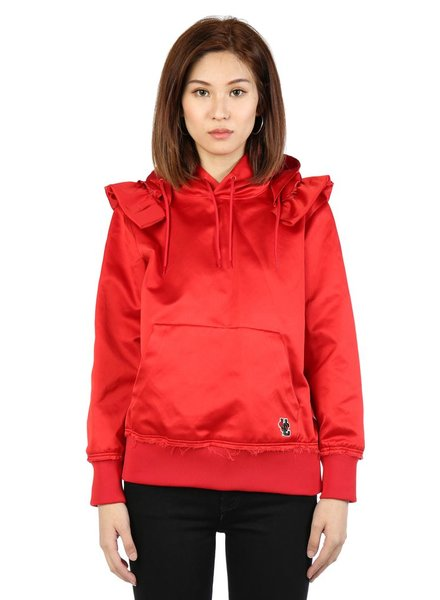 UNDERCOVER UNDERCOVER WOMEN RED RIDING HOOD POCKET BAG HOODIE