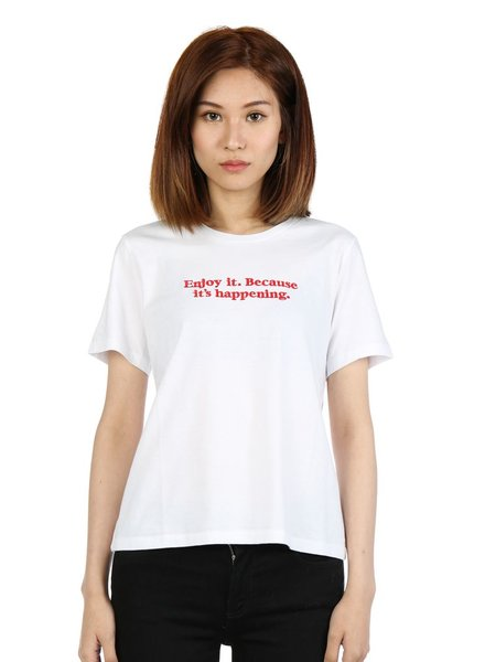 UNDERCOVER UNDERCOVER WOMEN ENJOY IT BECAUSE IT'S HAPPENING T-SHIRT