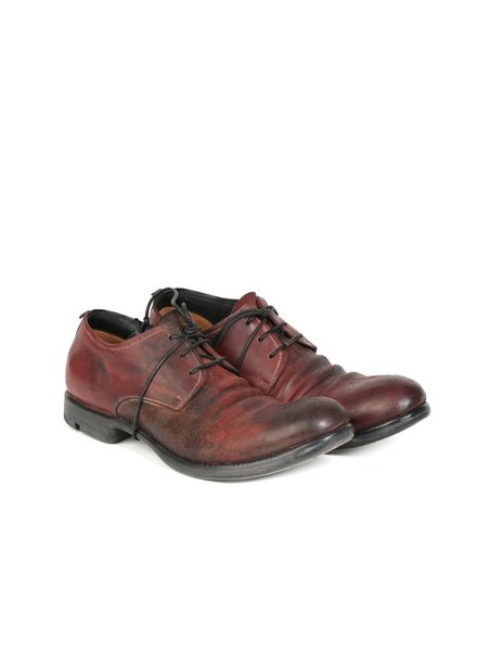 LAYER-0 LAYER-0 MEN REVERSE CORDOVAN LEATHER GOOODYEAR DERBY